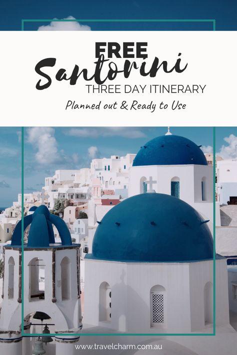 FREE Three Day Itinerary – Santorini
