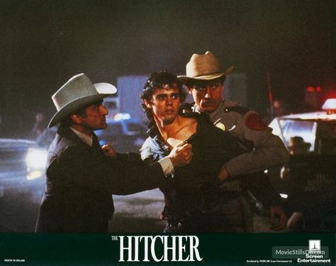 The Hitcher - Publicity still of Jeffrey DeMunn & C. Thomas Howell