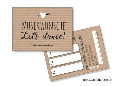 50 Music Wish Cards Kraft Paper For The Wedding Music Wishes For The