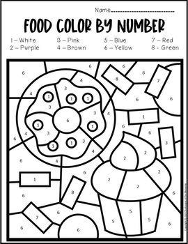 Color By Number Food Preschool Worksheets By The Keeper Of The Memories Teacher Preschool Worksheets Color Worksheets For Preschool Free Preschool Worksheets