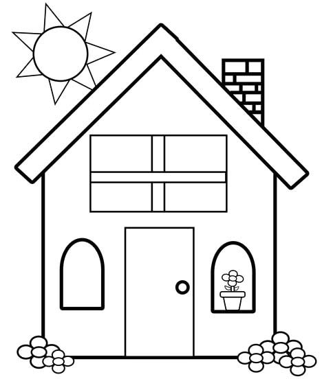 House Coloring Pages Simple House Coloring Pa 1178 Hbrd Me House