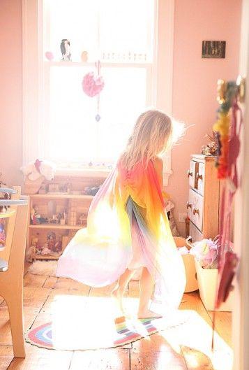 waldorf play silks for imaginative play {from Sarah's Silks}