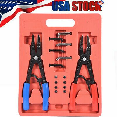 Ebay Advertisement 2 Pc 10 Circlip Pliers Set Snap Ring Pliers Remover Installer O Ring Pliers New In 2020 Snap Ring O Ring Pliers