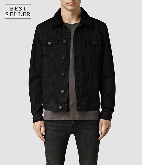 Mens Cleveland Denim Jacket (Washed Black) - product_image_alt_text_1