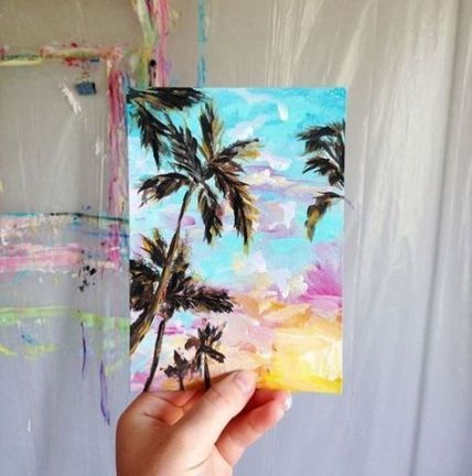 40 Ideas Painting Ideas On Paper Artists Painting Mini Canvas