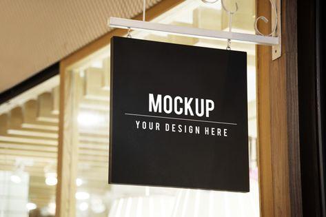 Download Mockup Sign Outside Of A Shop For Free Shop Signs Mockup Logo Restaurant