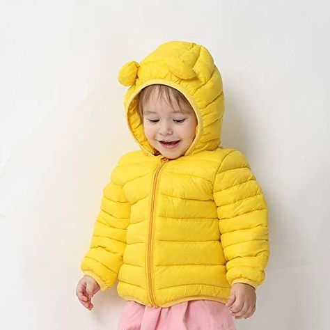 Padded Light Puffer Jacket for Baby Boys Girls Toddlers CECORC Winter Coats for Kids with Hoods Infants
