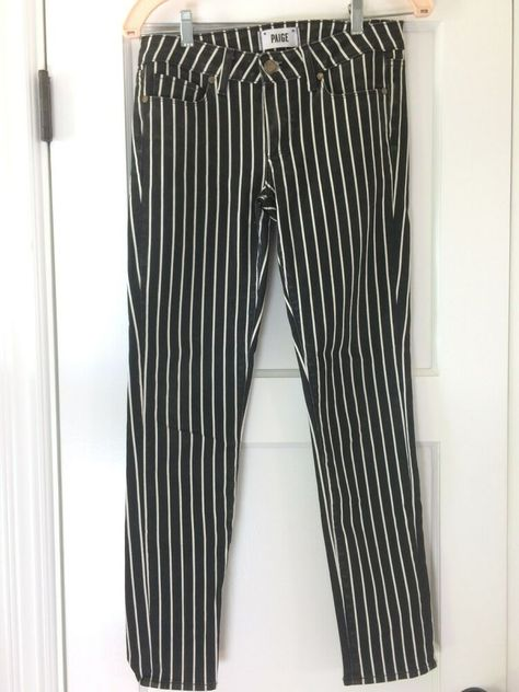 9184c98227cb Paige Black and White Stripe Skyline Ankle Peg Jeans Size 27 Good Pre-Owned  #fashion #clothing #shoes #accessories #womensclothing #jeans (ebay link)