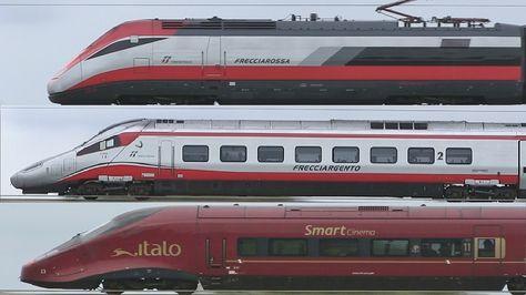 Train Spotting - Frecciarossa, Frecciargento, Italo & others on high spe.