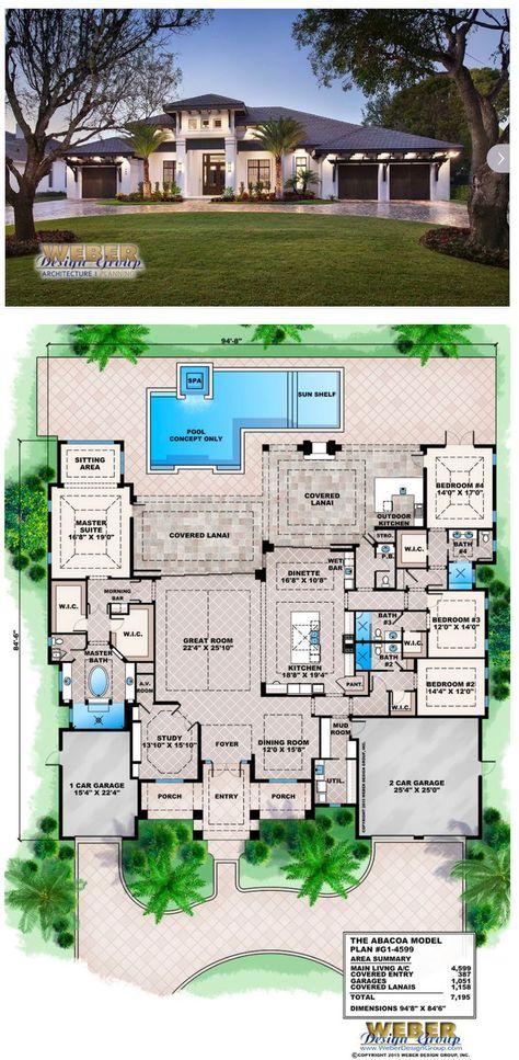 West Indies House Plan: Contemporary Caribbean Beach Home Floor Plan ...