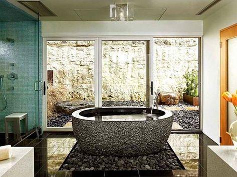 20 ideeën voor een rustige en comfortabele zen badkamer decoratie