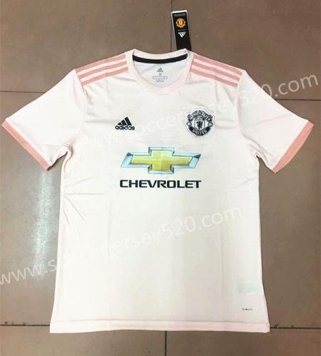 2018 19 Manchester United Away Pink Thailand Soccer Jersey Aaa Soccer Jersey Mens Tops Team Jersey