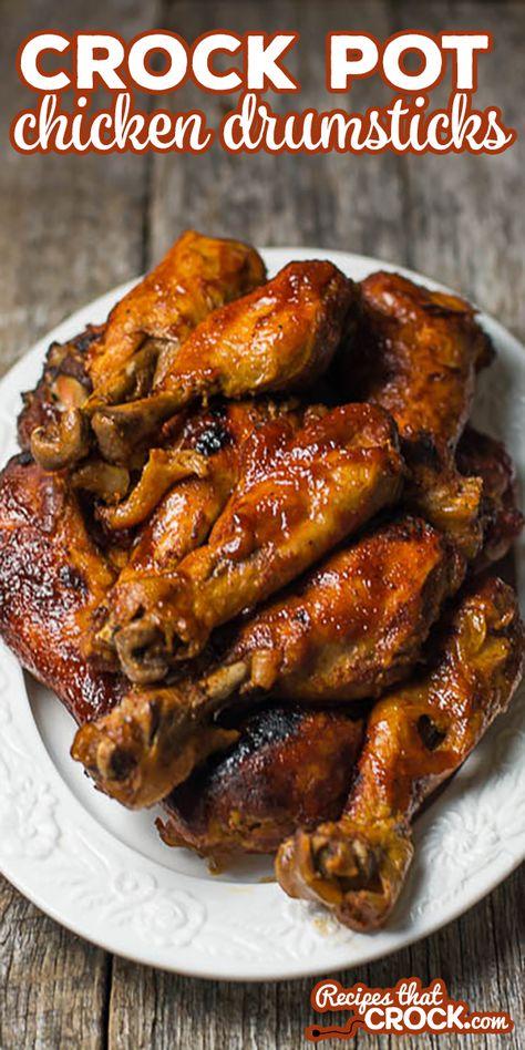 Chicken Leg Slow Cooker, Crockpot Chicken Leg Recipes, Barbeque Chicken Recipes, Slow Cooked Chicken, Crockpot Meals, Recipes For Chicken Legs, Crock Pot Chicken, Crock Pot Drumsticks, Recipes For Drumsticks