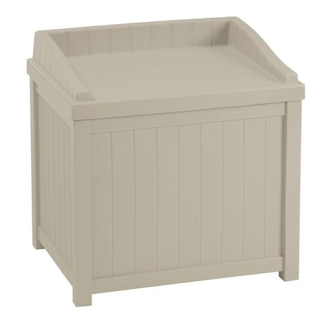 Suncast 22 Gal. Taupe Small Storage Seat Deck Box