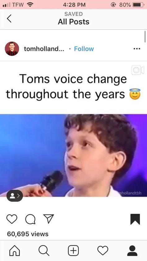 Toms voice change🤩