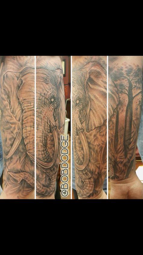 tattoolife Black and white elephant! Come...