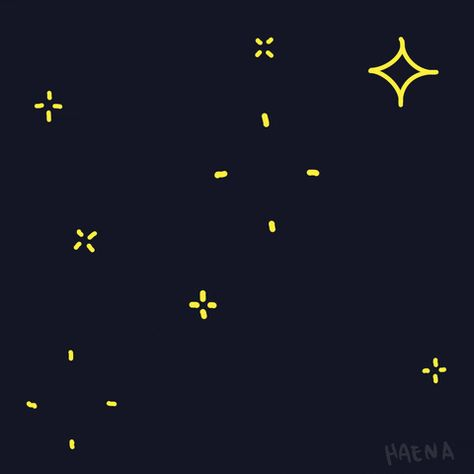 Night Celebrate Gif By Haenaillust Find Share On Giphy In 2021 Star Gif Star Doodle Twinkle Star