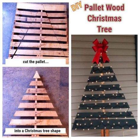 DIY Pallet Christmas tree ideas - love all these easy pallet projects