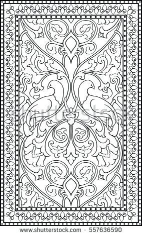 Carpet Coloring Carpet Pattern Coloring Sheet Carpet Stock ...