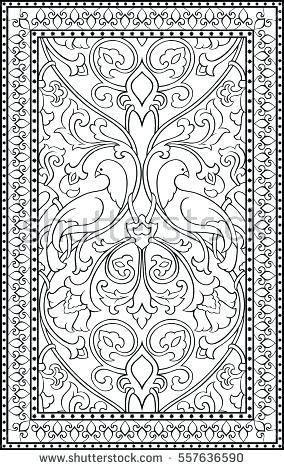 Carpet Coloring Carpet Pattern Coloring Sheet Carpet Stock Images ...
