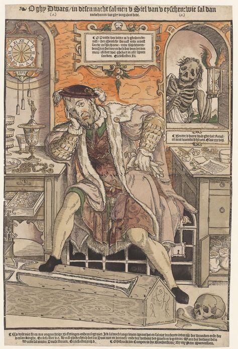 De rijke man en de Dood, Monogrammist AI (16e eeuw), Peter Warnerssen, 1553