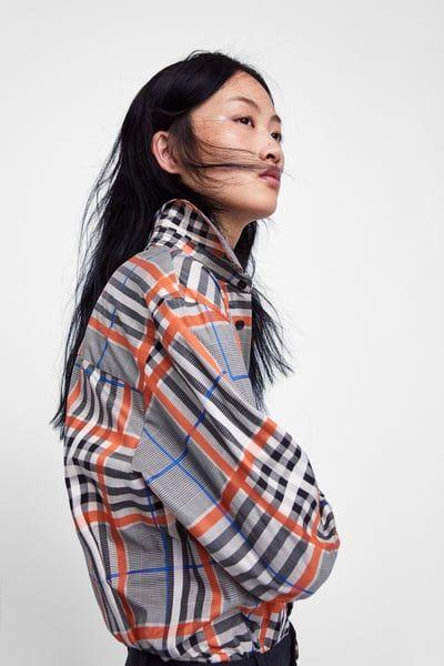 01033534 PLAID SHIRT | Zara....Woman in 2019 | Zara, Women, Fashion