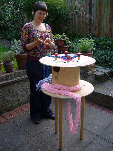 Giant spool knitter!