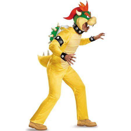 Super Mario Bros King Bowser Koopa Fleece Cosplay Costume Halloween fast shiipng