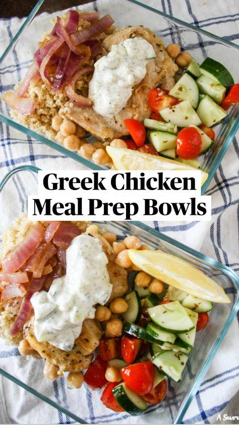 Greek Chicken Meal Prep Bowls