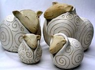 pitcher or votive candle pinteres - Pottery Design Ideas