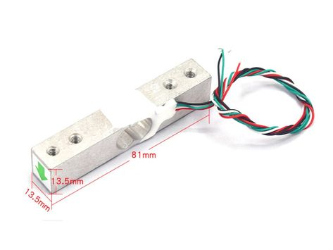 Strain Gauge Load Cell - 4 Wires - 1Kg ID: 4540 - $3.95 : Adafruit Industries, Unique  fun DIY electronics and kits