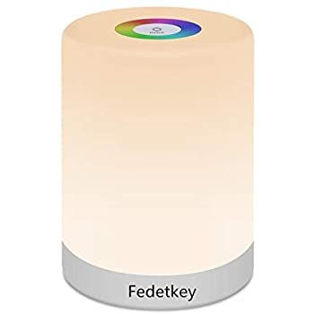 Fidi Tek Led Night Light Touch Control Chargeable Smart Bedside Table Lamp Dimmable Rgb Color Changing Modes F In 2020 Led Night Light Bedside Table Lamps Night Light