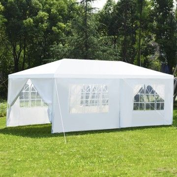 10 X 20 Outdoor Canopy Tent With Side Walls Canopy Tent Outdoor Canopy Outdoor Gazebo