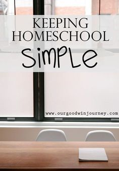 Tips for Keeping Homeschool Simple