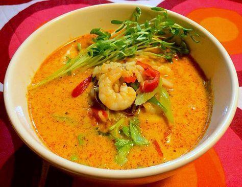 rød karry suppe