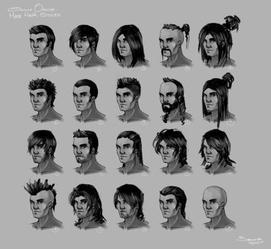 Omuni Online Male Hairstyles By Baranha How To Draw Hair Mens Hairstyles Character Design Male