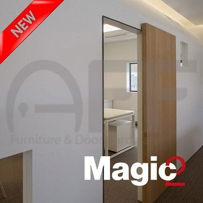 Magic 2 1800 Concealed Sliding System For Barn Wood Door Indoor Sliding Doors Hanging Barn Doors Sliding Wood Doors