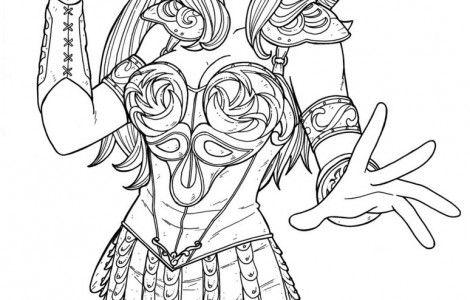 Xena Warrior Princess Coloring Pages