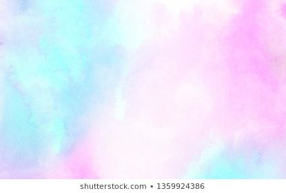 Beautiful Fantasy Light Blue Purple And Pink Shades Watercolor