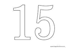 Resultado De Imagen Para Numero 15 Para Quince Anos Para Colorear
