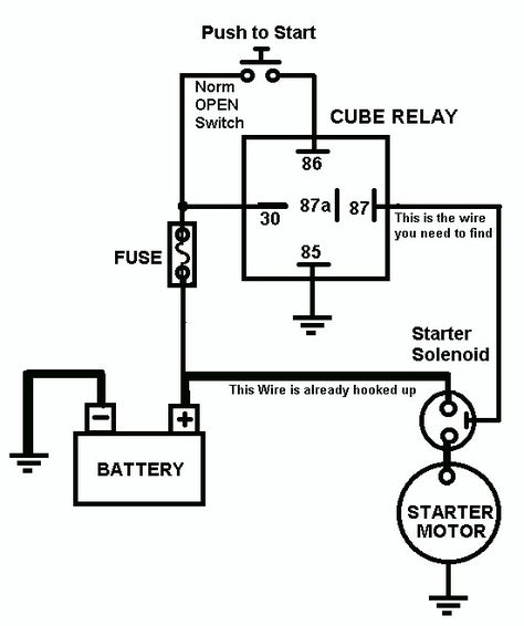 Vehicle Horn Circuit Car Mechanic Trailer Light Wiring Motorcycle Wiring