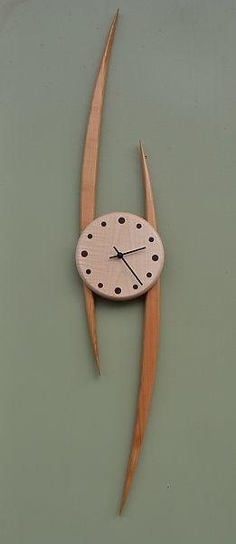 Slope Clock: Steve Uren: Wood Clock | Artful Home