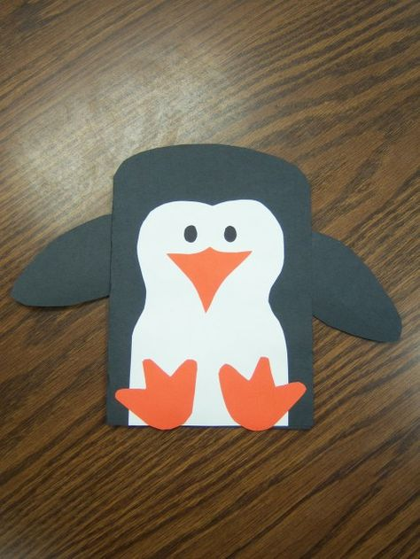 penguin craft project. Cute for winter animal theme