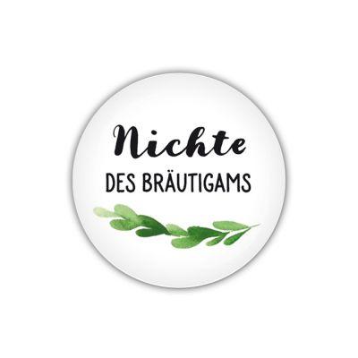Button 38mm O Greenery Nichte Des Brautigams Vater Der Braut Mutter Der Braut Und Mutter Des Brautigams