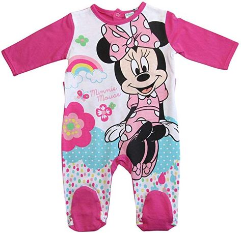 Minnie Mouse Strampelanzug Strampler Disney Lang M/ädchen
