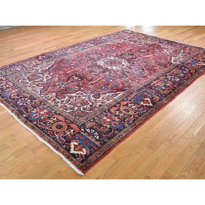 World Menagerie One Of A Kind Franz Semi Antique Flower Good Condition Tribal Oriental Hand Knotted 7 7 X 11 Wool Red Area Rug Area Rugs Rugs Beige Area Rugs