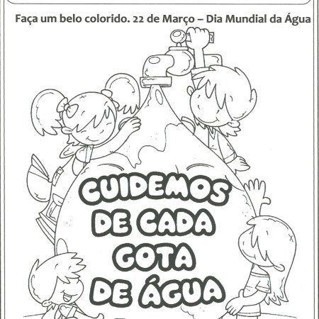 Dia Da Agua Para Colorir Dia Da Agua Atividades Para Educacao