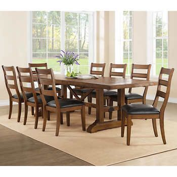 Washington 9 Piece Dining Set 999 Costco Bayside Furnishings Dining Table Dining Room Small