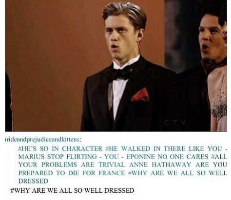 Aaron Tveit at the oscars, being soo in character. Or should I say, Enjolras just being his own fabulous self? Because Aaron IS Enjolras.