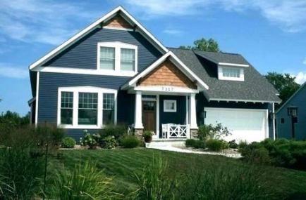 House White Exterior Dark Blue 30 Ideas House Exterior Blue Exterior House Colors Grey Exterior House Colors